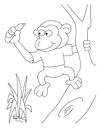 pigmy monkey coloring pages download free pigmy monkey coloring