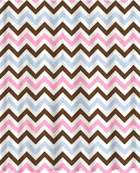 Pink And White Chevron Curtains Custom Colors Shower Curtain Chevron Brown White Pastel Pink