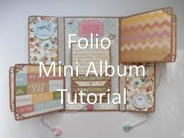 Couverture Album Photo Scrapbooking Mother U0027s Day Folio Mini Album Tutorial Video Tutorials