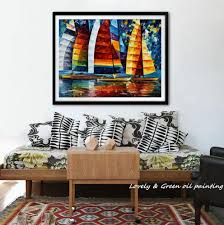 aliexpress com buy wall decor modern art colorful sailing boat