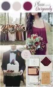 fall wedding colors plum burgundy weddings wedding
