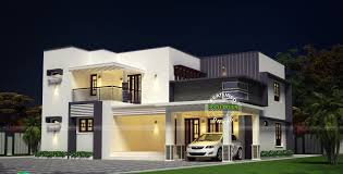 modern double floor flat roof home design architecture and art