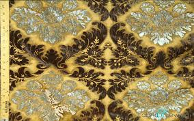 Black And Gold Upholstery Fabric Gold Yellow Black And Silver Grey Big Flower Print Upholstery