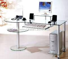 glass desk with drawers computer glass desks attractive design ideas glass computer desk featured with some drawers home black glass modern glass desk with