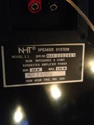 nht home theater speakers picked up some nht 1 1s at a garage sale i don u0027t know anything