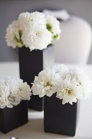 white centerpieces 26 timeless black and white party ideas shelterness