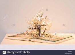 book with pop up tree stock photo royalty free image