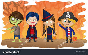halloween background with silhouettes of children trick or treating in halloween costume clipart of people having fun at a halloween costume party black