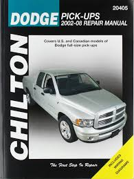 dodge pick ups 2002 2008 chilton u0027s total car care repair manual