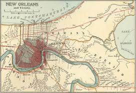 New Orleans City Map by Mapping History The Big Easy Bean City Connection