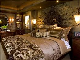 Brown And Blue Wall Decor Mediterranean Bedroom Decor Home Decorating Ideas Bedroom Brown