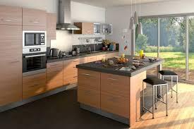 cuisine couleur bois cuisine avec îlot par lapeyre couleur bois et gris http m