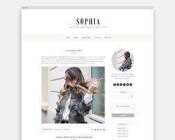 feminine blogger templates pish and posh designs