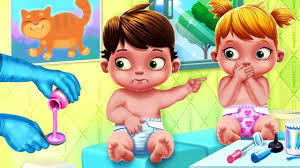 fun baby care learn colors kids games bath dress up feed doctor