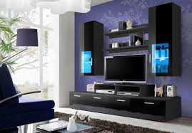 tv unit storage living room modern wall units high gloss