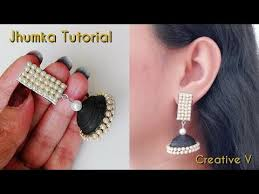 creative earrings how to make quilling jhumka quilling earrings tutorial paper