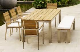 stainless steel table and chairs indoor outdoor wicker custom made teak wood furniture selangor malaysia
