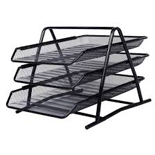 Black Wire Mesh Desk Accessories by Sosw Office Filing Trays Holder A4 Document Letter Paper Wire Mesh