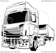 volvo big rig trucks clipart of a black and white lorry big rig truck royalty free