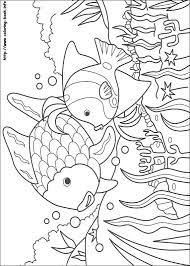 rainbow fish coloring picture kids projects