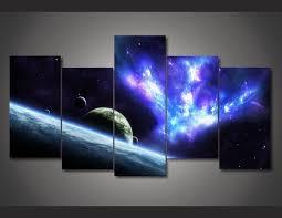chambre de d馗ompression imprimé étoiles univers espace peinture sur toile chambre décoration