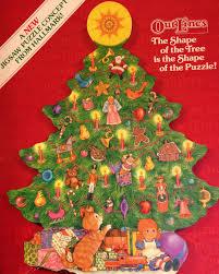 rare christmas puzzle vintage tree shape hallmark springbok