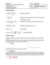 28 standing waves worksheet answers general physics i 11 13