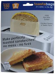 Buttered Bread In Toaster Amazon Com Toastabags Reusable Non Stick Sandwich Snack