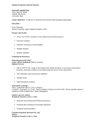 Chemistry Resume Example by Professional Chemist Resume Template