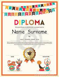 preschool graduation diploma preschool elementary school kids diploma certificate background