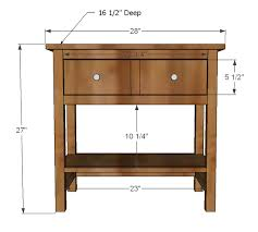 Woodworking Plans For Dressers Free by Ana White Farmhouse Bedside Table Diy Projects