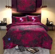 Galaxy Themed Bedroom 3d Galaxy Comforter Bedding Sets Queen Size Universe Outer Space
