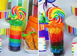 Rainbow Party Decorations 34 Best Candy Tables Images On Pinterest Birthday Ideas