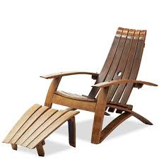 Adirondack Chaise Lounge Wine Barrel Adirondack Chair And Footstool Vivaterra