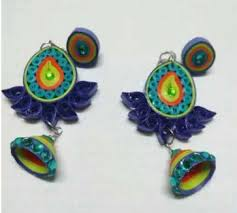 quiling earrings quilling earrings manufacturer from pondicherry