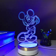 Mickey Mouse Table by Mickey Mouse Usb Touch Night Lamp 3d Table Lamps 7 Color Changing