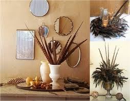 turkey feather wreath feathers decor interiors fall winter ornaments