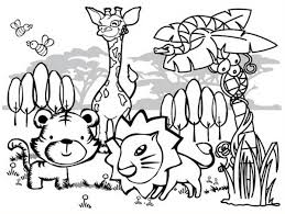 cartoon of forest animals coloring page cartoon of forest animals