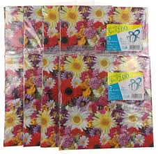 All Occasions Gift Wrap - plus mark all occasion gift wrap flowers 8 pkgs 66 4 sq ft