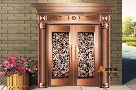 Entrance Door Design Front Safety Door Design Customized Copper Door House Entrance