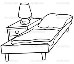 Black And White Bed by Cartoon Bed Black And White Clipart