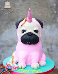 dog cake unicorn pug dog cake cake by sylwia cakesdecor