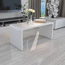 ebay coffee table sets design modern high gloss white coffee table side end table living