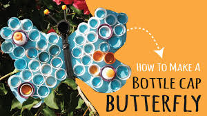 how to make diy wall art using plastic bottle caps butterfly