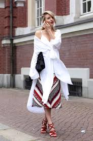 H M Draped Blouse Street Style May 2015 Just The Design