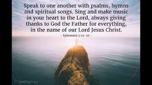sermon ephesians 5 19 20 thanksgiving perspective