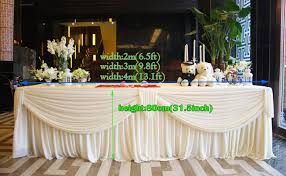8 ft table skirt 13 1ft w 31 5 h whitetablecloth wedding table skirt banquet table