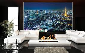 poster tokyo city mural decoration tokyo skyline night metropolis
