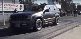 turbo jeep srt8 twin turbo jeep grand cherokee srt8 goes drag racing aims for 8s