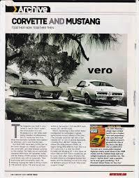 corvette magazines 2015 ad chevrolet corvette ford mustang photo archive print 1967